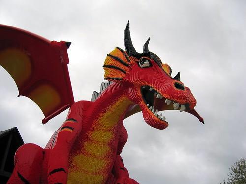 LEGO dragon profile