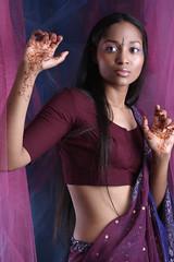 black hair, clothing, purple, abdomen, limb, trunk, photo shoot, lady, sari, beauty, eye, organ,
