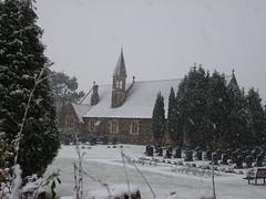 dafen church llanelli snow
