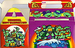 "MELLO SMELLO :: ""TEENAGE MUTANT NINJA TURTLES"" Valentine Kit .. box ii (( 1994 ))"