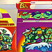 "MELLO SMELLO :: ""TEENAGE MUTANT NINJA TURTLES"" Valentine Kit .. ""POP-UP"" tote box ii (( 1994 ))"
