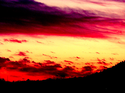 sunset sky love flames mysterious