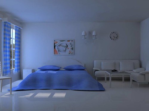 bedroom cool blue by Mahir_jimax