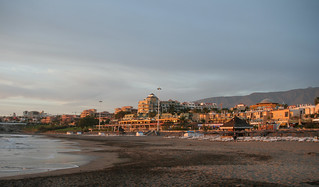 Image of Playa de Fañabe near Playa de las Américas. evening tenerife canaryislands hisgett fanabebeach