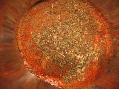 orange, spice mix, food,