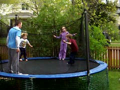 backyard, trampolining--equipment and supplies, play, leisure, trampoline,