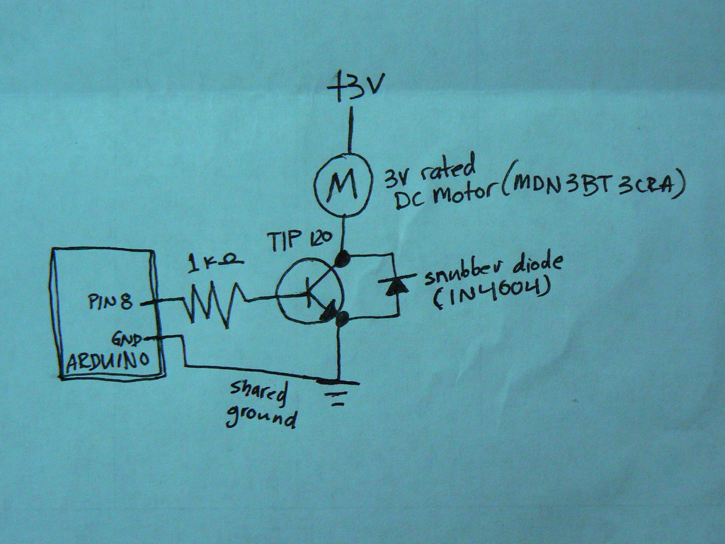 arduino controlling a dc motor circuit diagram see the ci\u2026 flickr