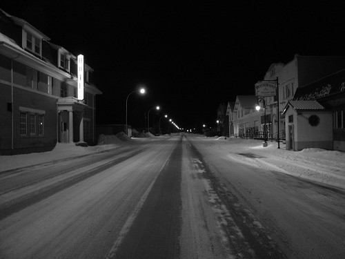 Snowy Night V.P. B/W