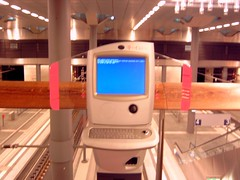Internet Kiosk in the new Main Station, Berlin