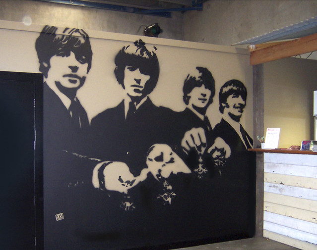 photo On beatles wall mural