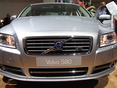 wheel(0.0), vehicle registration plate(0.0), convertible(0.0), automobile(1.0), automotive exterior(1.0), vehicle(1.0), automotive design(1.0), auto show(1.0), grille(1.0), volvo s80(1.0), bumper(1.0), volvo cars(1.0), land vehicle(1.0), luxury vehicle(1.0),