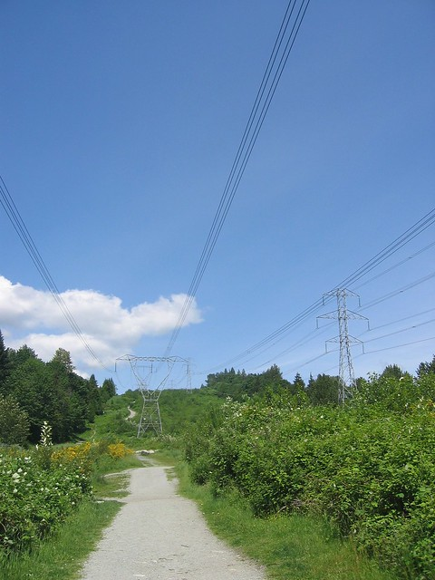 BC Hydro power lines in Coquitlam