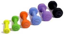 A little bit of weight training