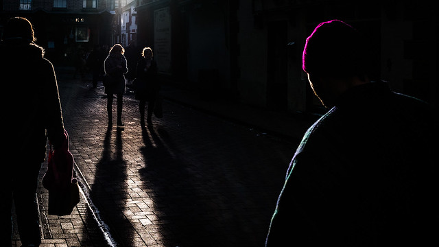 Xmas shopping - Dublin, Ireland - Color street photography