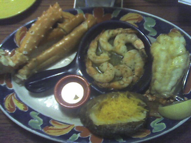 King crab legs, rock lobster tail, and shrimp scampi for dinner | Flickr - Photo Sharing!