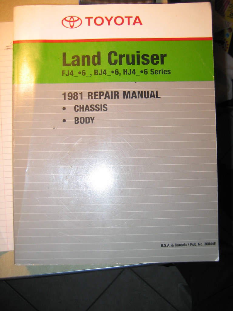 Toyota 1981 repair manual
