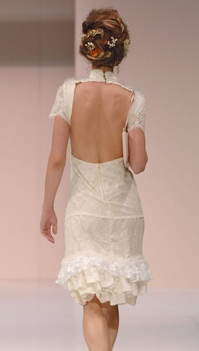 sculptured heart dress (back)