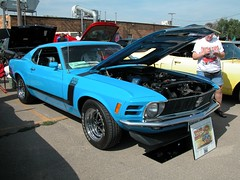 automobile, automotive exterior, boss 302 mustang, wheel, vehicle, ford mustang mach 1, first generation ford mustang, boss 429, bumper, ford, antique car, land vehicle, muscle car, sports car,