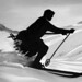 old fashioned skier