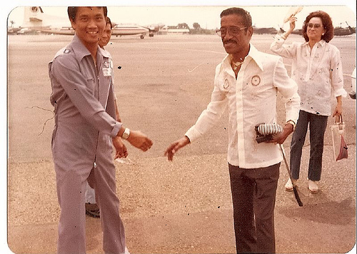 My dad and Sammy Davis Jr