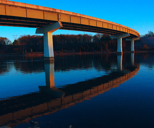 bridge sunset lake water d50 evening tennessee nikond50 michaels loudoncounty cliffmichaels tennpenny photoscliff