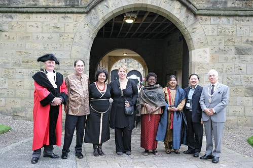 World Summit delegates are welcomed to Alnwick Castle for the Summit Dinner in The Alnwick Garden