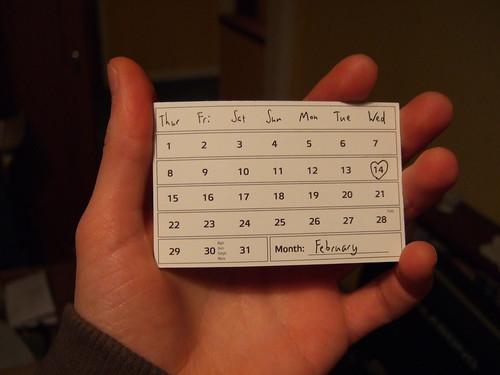 Calendar Card - February