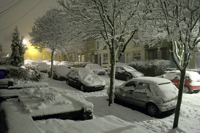 snow in crookes [sheffield borough, england]