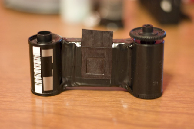 how to take film out of disposable camera