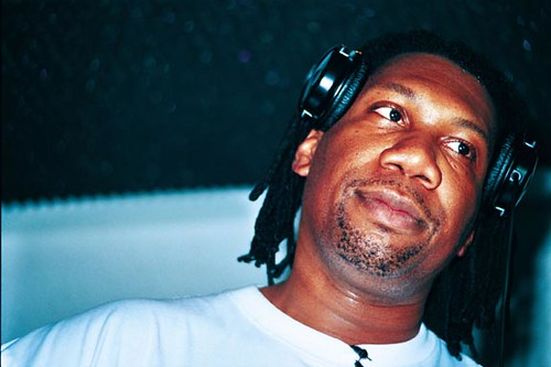 KRS ONE in Studio with Headphones
