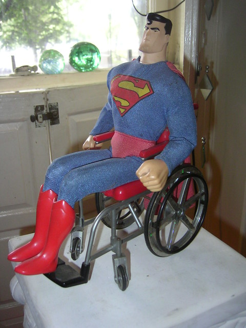 superman in a wheelchair