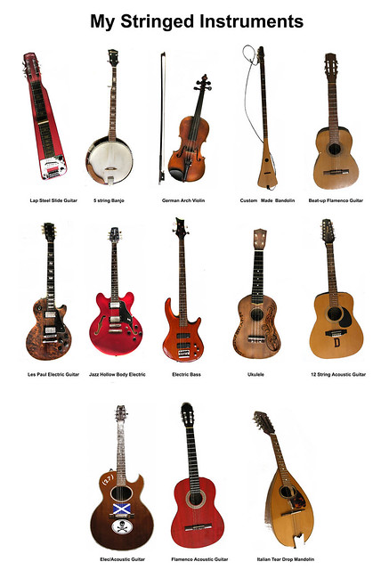 my stringed instruments | Flickr - Photo Sharing!
