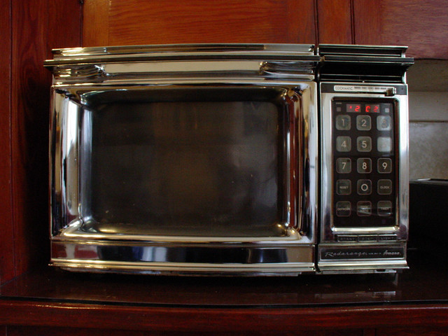Microwave On Countertop In Kitchen