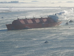 arctic(0.0), bulk carrier(0.0), shipwreck(0.0), arctic ocean(1.0), vehicle(1.0), tank ship(1.0), freight transport(1.0), ship(1.0), sea(1.0), channel(1.0), cargo ship(1.0), watercraft(1.0),