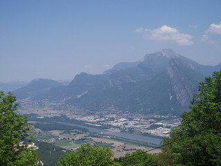 View across Isère valley