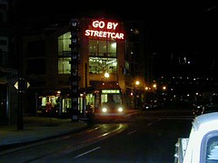Go By Streetcar Neon Sign @Streetcar Lofts, Portland, OR
