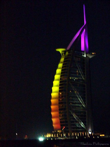 Burj Al Arab by night