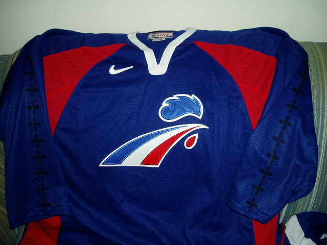 "IIHF France ""away"" hockey jersey"
