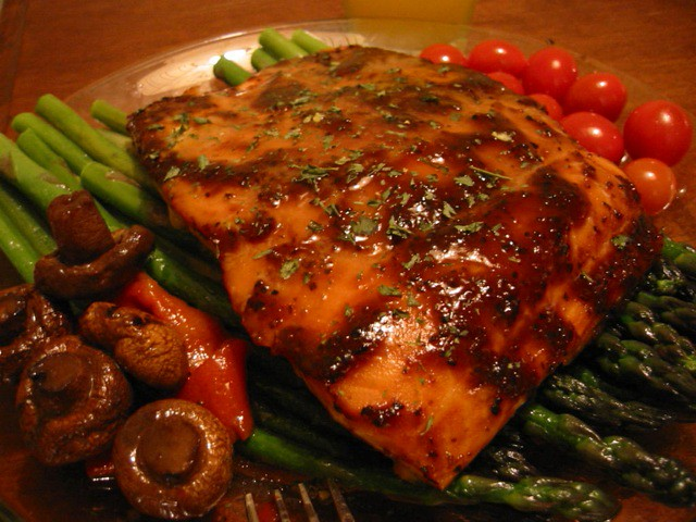 Baked Salmon over Asparagus - 2 | Flickr - Photo Sharing!