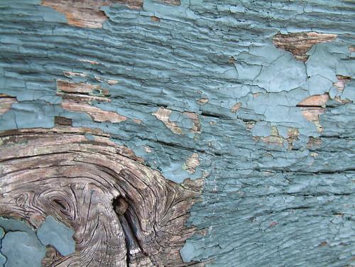 Died blue paint