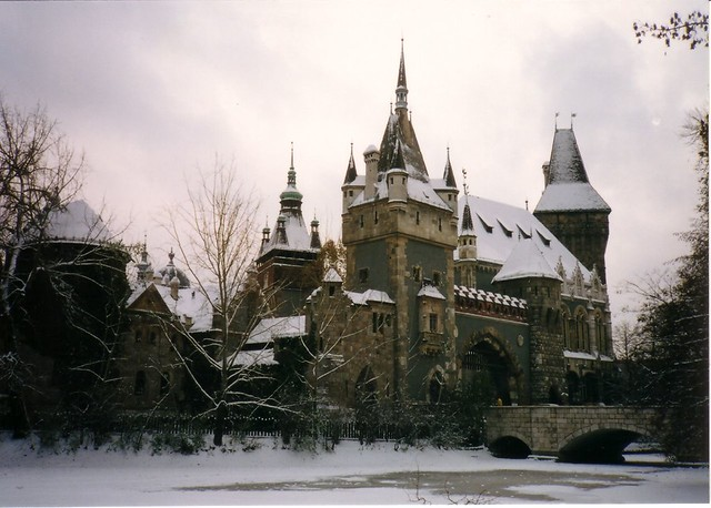 Chateau du parc de Varosliget en hiver - Photo de ChadBriggs