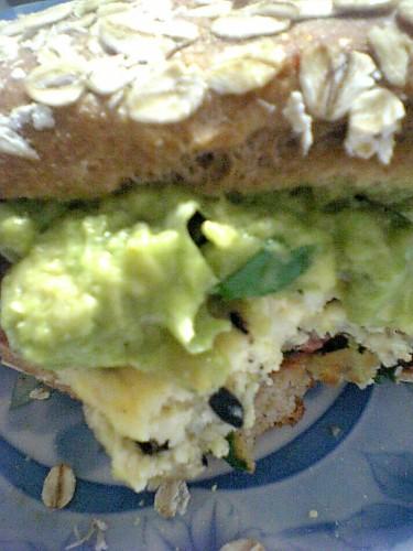 hijiki seaweed tofu burger with garden cilantro guacamole … | Flickr ...