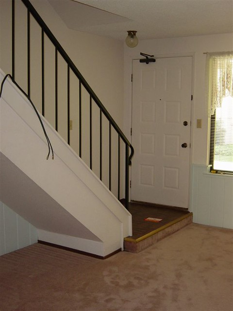 stairs linoleum entry way before flickr photo sharing. Black Bedroom Furniture Sets. Home Design Ideas
