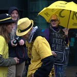 Anti-fracking campaigner Tina Louise Rothery's court case in Preston protest - 9