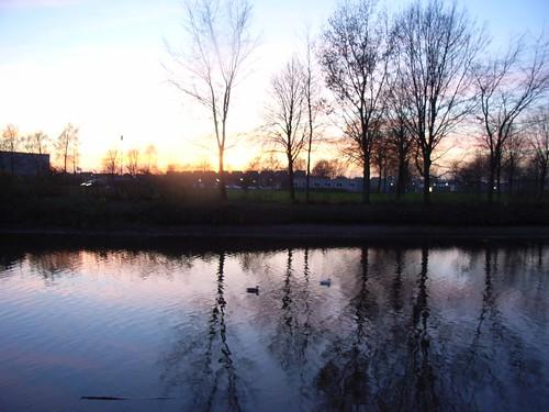 sunset water landscape