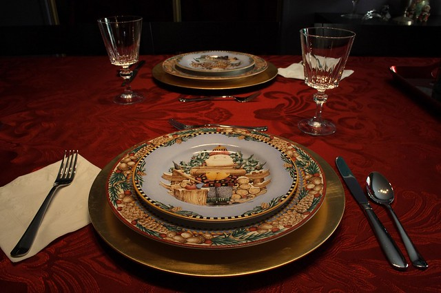 Our Christmas Table Setting