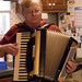 Small photo of Dad and his accordion