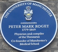 Photo of Peter Mark Roget blue plaque