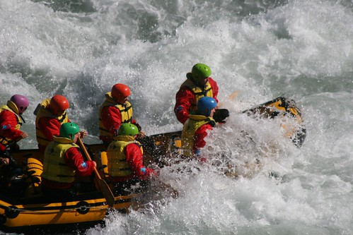 White Water Rafting, Rangitata Valley, NZ