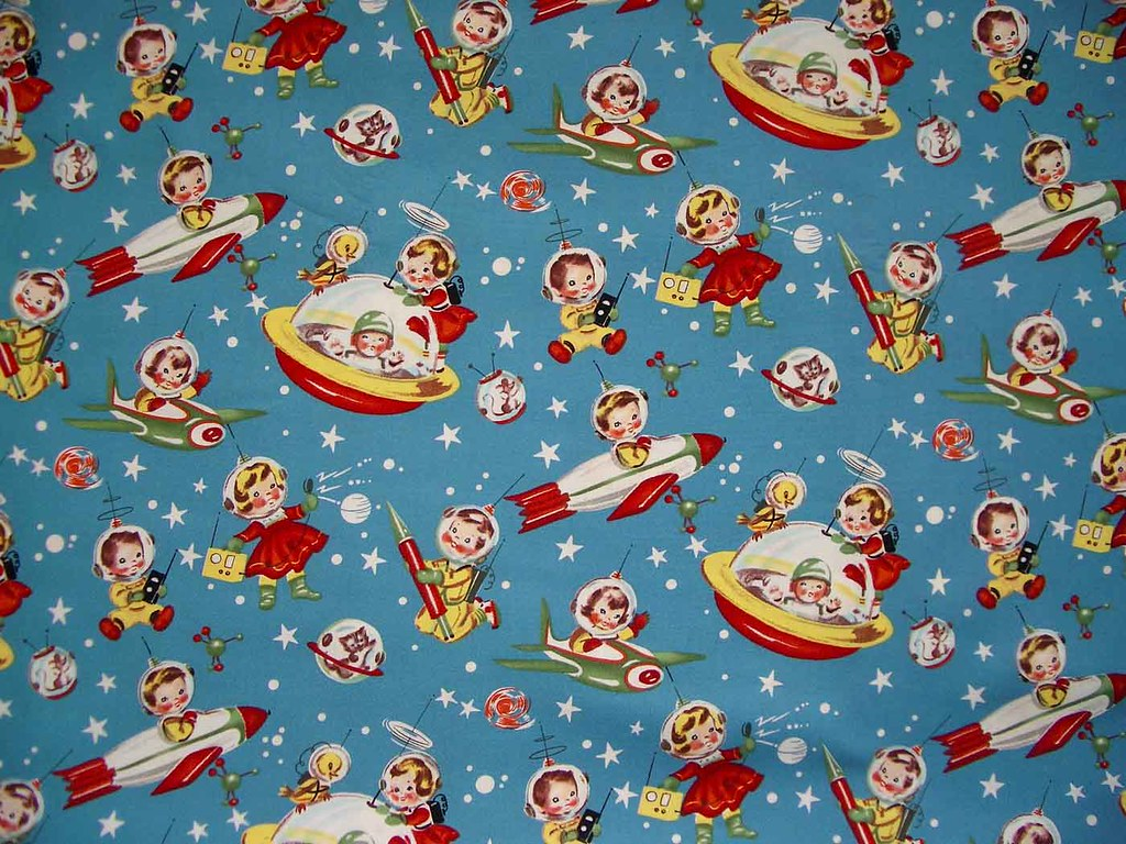 Michael miller rocket rascals fabric a photo on flickriver for Rocket fabric